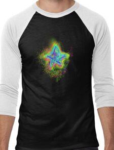Rainbow Star Mist Men's Baseball ¾ T-Shirt