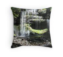 Russell Falls - Mount Field Nat.Park, Tasmania, Australia Throw Pillow