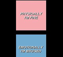 """Harry Styles Quote """"Physically I'm Fine"""" Inspired Aesthetic Phone Case by auserie"""