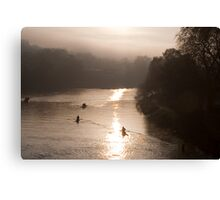 river rowers Canvas Print