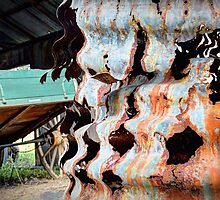 Rusty Corrugations - Monto, Queensland, Australia by Martin Lomé