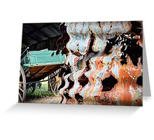Rusty Corrugations - Monto, Queensland, Australia Greeting Card