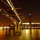 Millennium bridge Night in London - Tate Modern by DavidGutierrez
