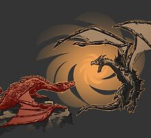 Alduin vs. smaug by ArryDesign