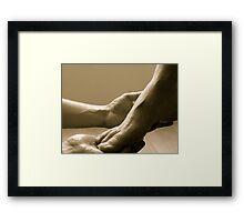 Come let me wash your feet Framed Print