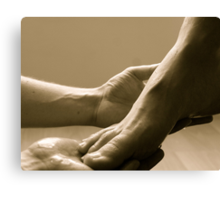 Come let me wash your feet Canvas Print