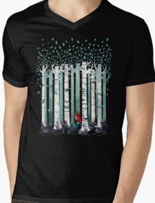 The Birches Mens V-Neck T-Shirt