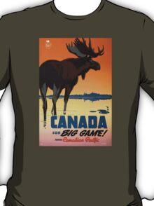 Canada Big Game Vintage Travel Poster Restored T-Shirt