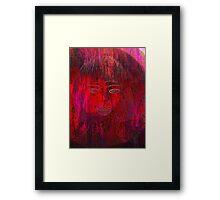 Red Portrait. Framed Print