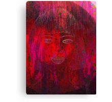 Red Portrait. Canvas Print