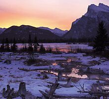 Vermillion Lake Dusk by Graeme Wallace