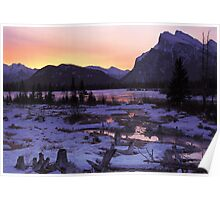 Vermillion Lake Dusk Poster