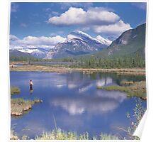 Fisherman in Lake Vermilion Poster