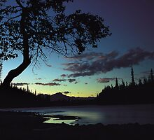 Sunset over Athabasca  River by Graeme Wallace