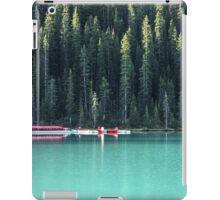 Lake Louise red canoes iPad Case/Skin