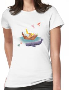 Origami Ark Womens Fitted T-Shirt