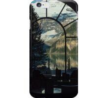 Lake Louise through a window iPhone Case/Skin