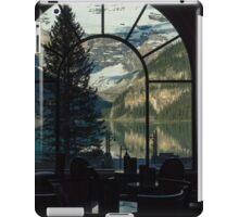 Lake Louise through a window iPad Case/Skin