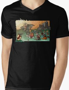 Epic battle! Mens V-Neck T-Shirt
