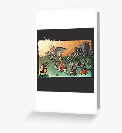 Epic battle! Greeting Card