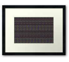 purple and green knitted pattern Framed Print