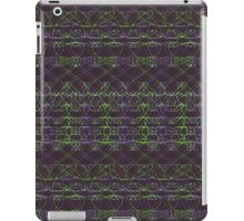 purple and green knitted pattern iPad Case/Skin