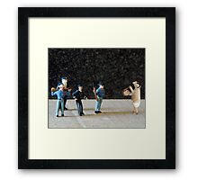 The Hailey Police Department learns their lesson after purchasing a battering ram on eBay. Framed Print