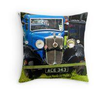 1934 Morris 10/4 Vintage Car Throw Pillow