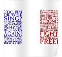 Les Miserables - Do You Hear the People Sing? Flag Poster