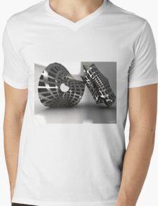 Sculpture Grey Mens V-Neck T-Shirt