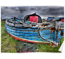 Worn Old Boat Poster