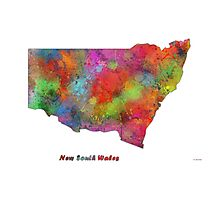 New South Wales State Map Photographic Print