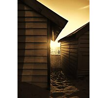 Between Bathing Boxes, Brighton Photographic Print
