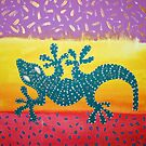 TRIBAL SERIES: REDREAMING GECKO by WENDY BANDURSKI-MILLER