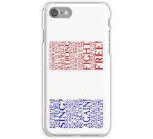 UPDATED! Les Miserables - Do You Hear The People Sing Flag (Vertical Version!) iPhone Case/Skin