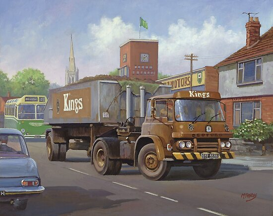 Bedford KM tipper. by Mike Jeffries