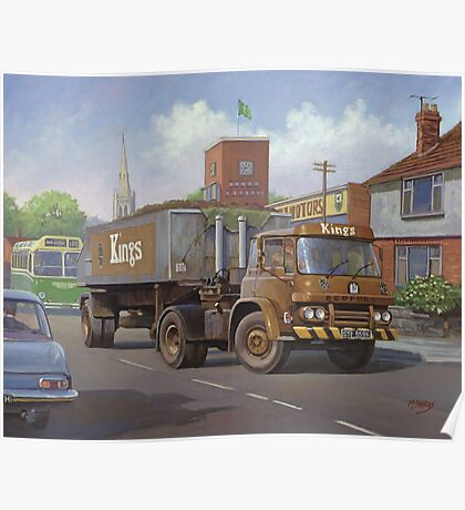 Bedford KM tipper. Poster