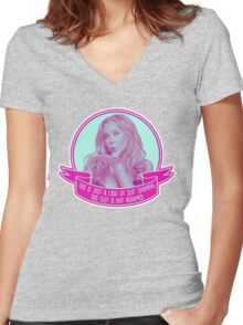 Amy Schumer Quote Design Women's Fitted V-Neck T-Shirt