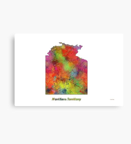 Northern Territory Map Canvas Print