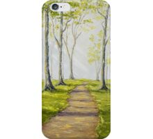 Sunny Forest Road iPhone Case/Skin