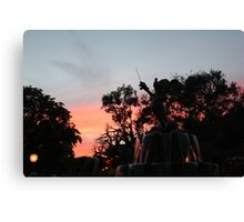 Sunset at toontown Canvas Print