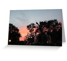 Sunset at toontown Greeting Card