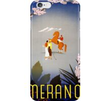 Merano Italy Vintage Travel Poster Restored iPhone Case/Skin