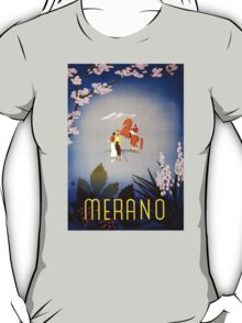 Merano Italy Vintage Travel Poster Restored T-Shirt