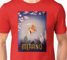 Merano Italy Vintage Travel Poster Restored Unisex T-Shirt