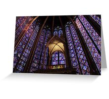 Colors of Sainte Chapelle Greeting Card