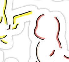 Kanto Starter Pokemons Sticker