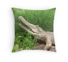 Anceint Crocs Throw Pillow