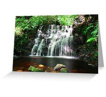 Dappled Waterfall Greeting Card