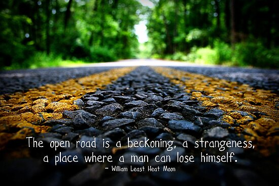 The Open Road - card with quote* by Tara Wagner